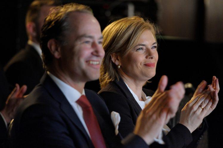 Dr. Alexander Hinrichs (Geschäftsführer der ITW) und Julia Klöckner (Bundesministerin für Ernährung und Landwirtschaft)