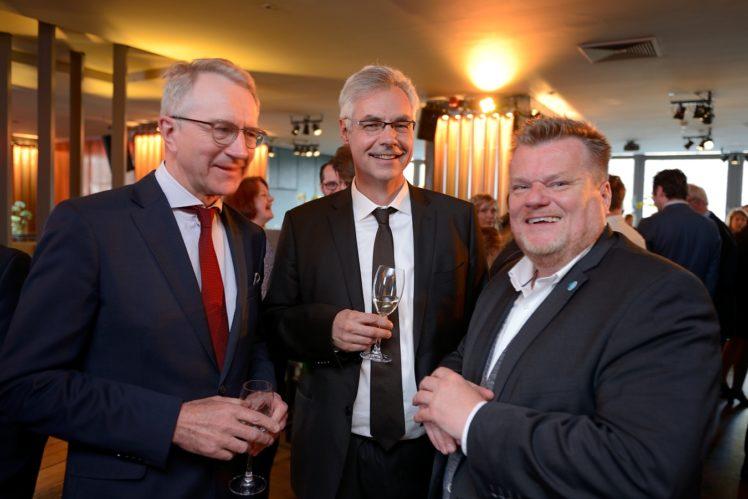 Dr. Nienhoff (QS), Prof. Dr. Lars Schrader, Thomas Schröder (Deutscher Tierschutzbund)
